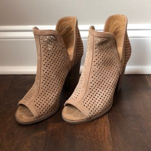 Lucky Brand Shoes - Lucky Brand Open Toe Booties